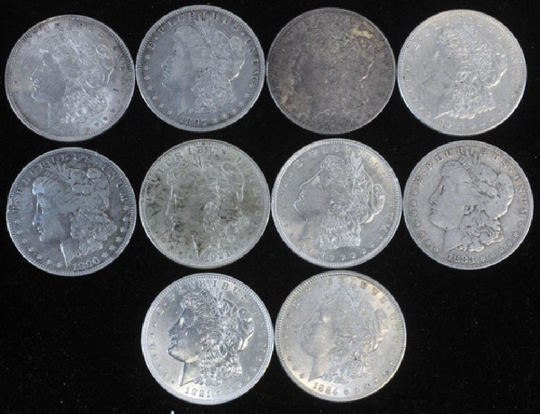10 Morgan Silver Dollars