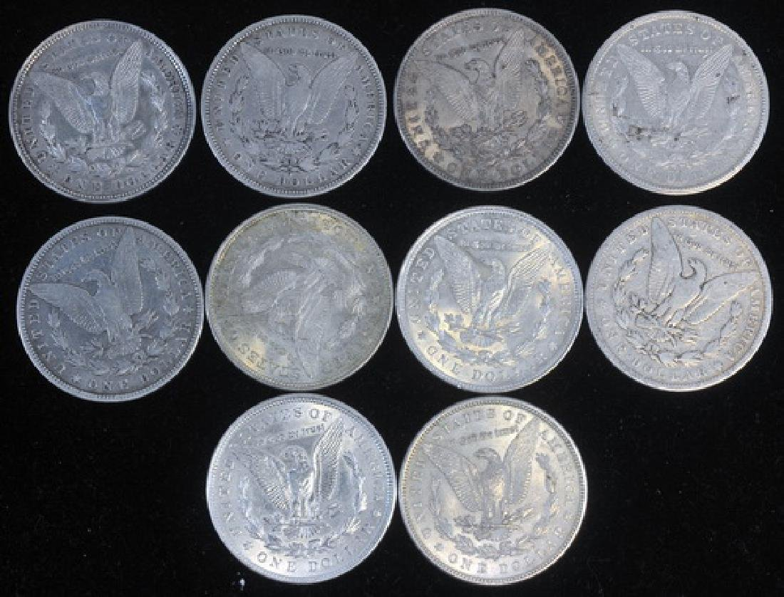 10 Morgan Silver Dollars - 2