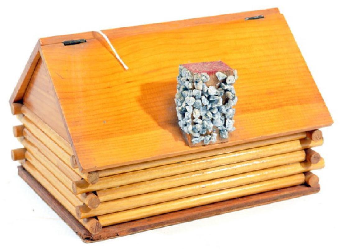 Vintage Maine State Prison Folk Art Jewelry Box - 2