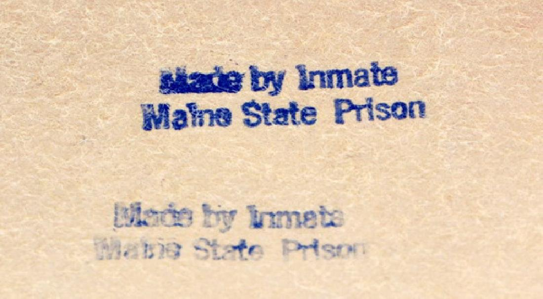 Vintage Maine State Prison Folk Art Jewelry Box - 4
