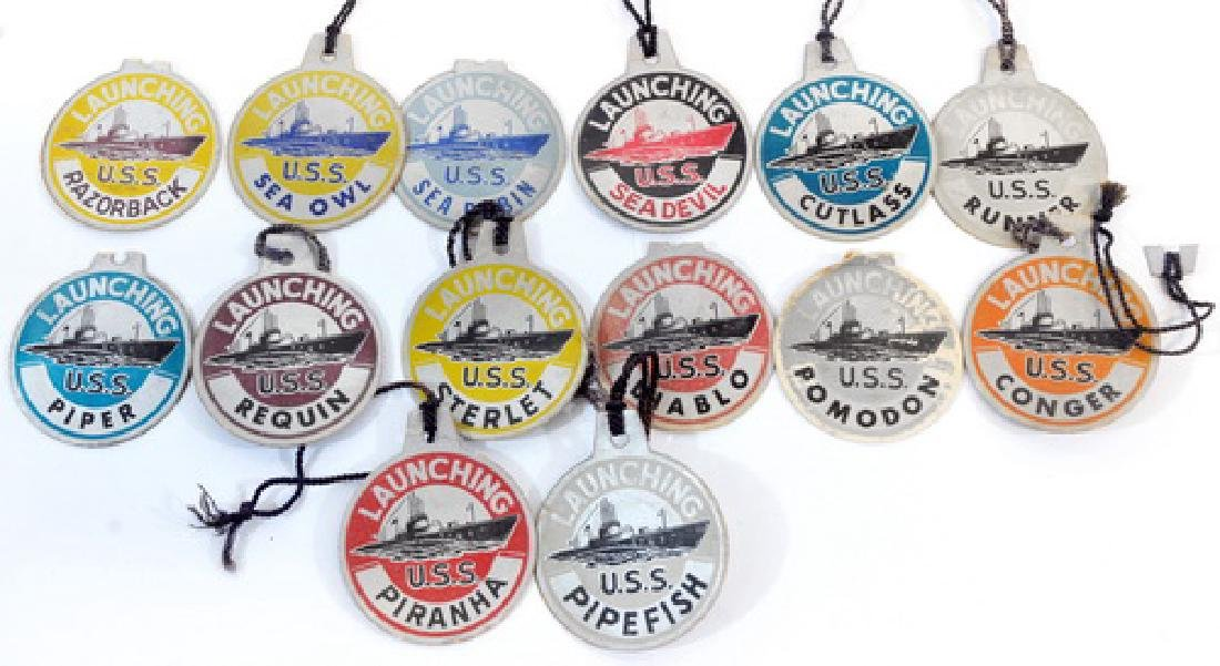 14 Original Wwii Submarine Launch Tags