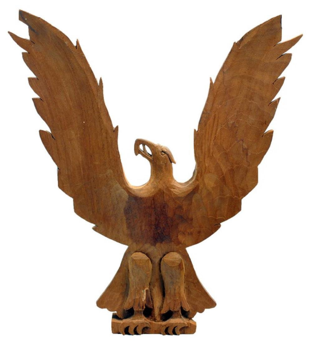 1956 J. Upton Wood Carved Eagle