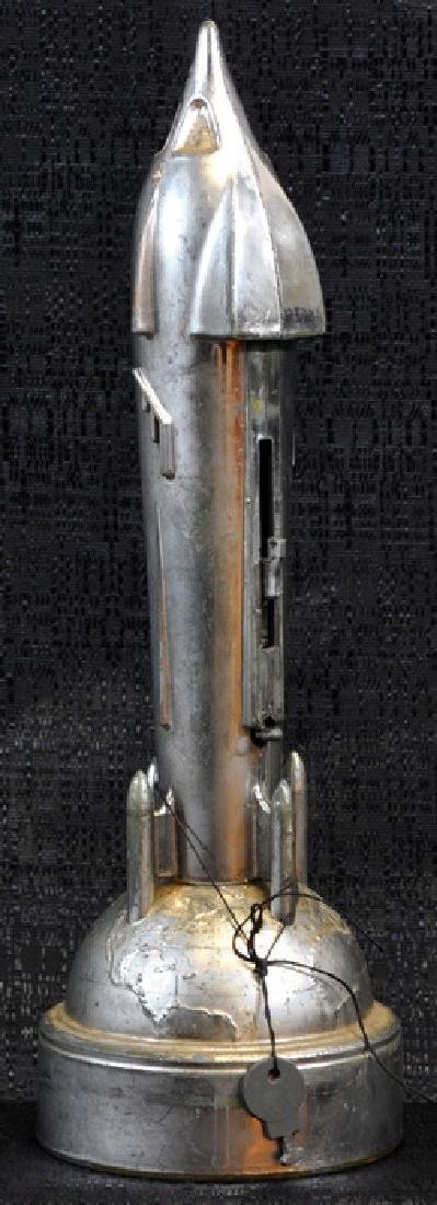 Original 1950's Rocket Bank With Key