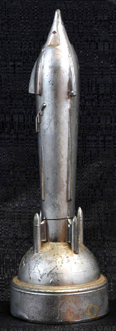 Original 1950's Rocket Bank With Key - 2