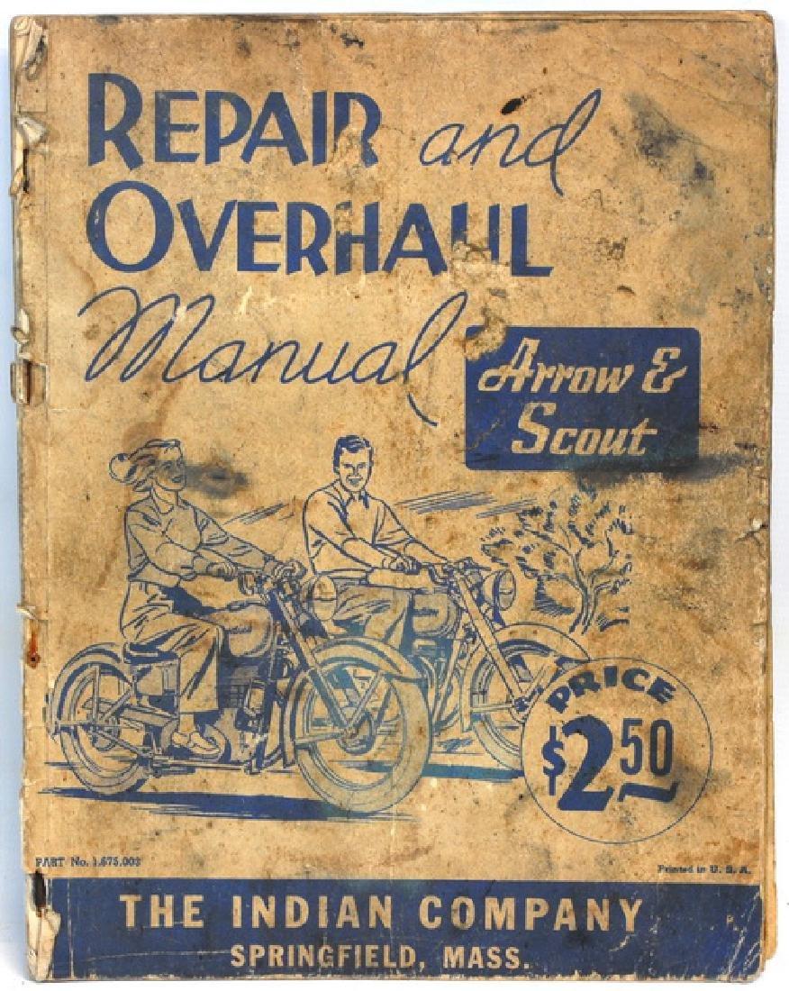 Original 1940's Indian Motorcycle Manual