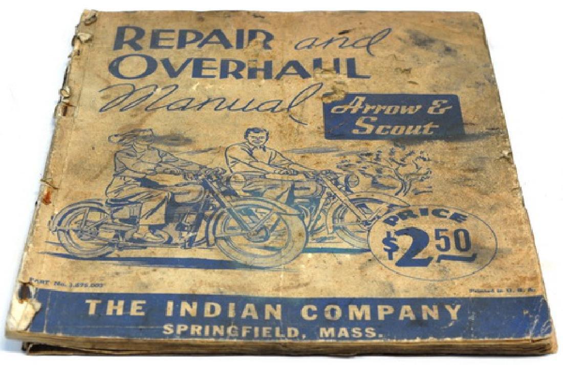 Original 1940's Indian Motorcycle Manual - 3