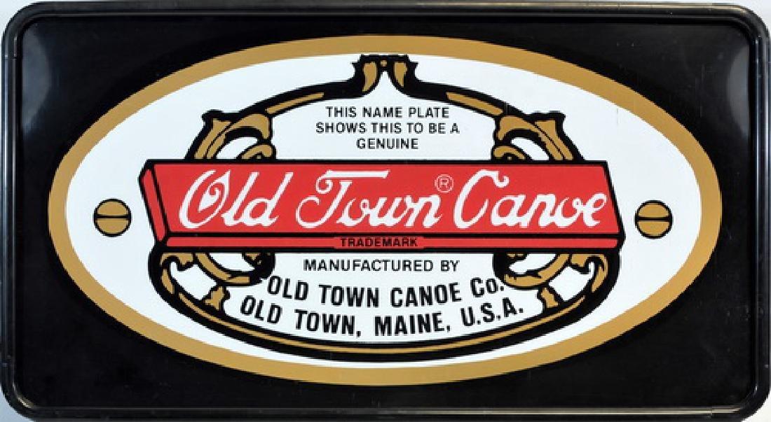 Vintage Old Town Canoe Light Up Sign