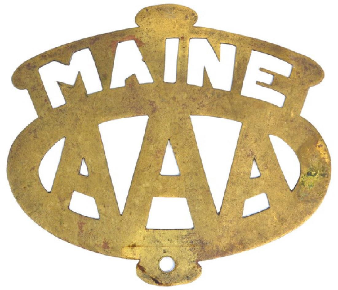 Early Original 1930's Aaa Plate Topper