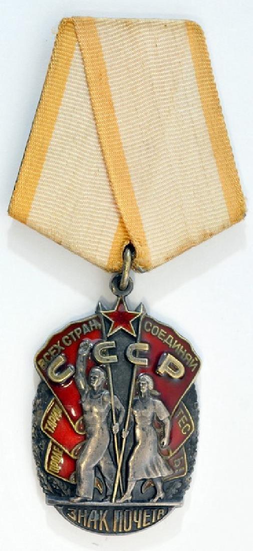 Original Wwii Soviet Badge Of Honor Medal