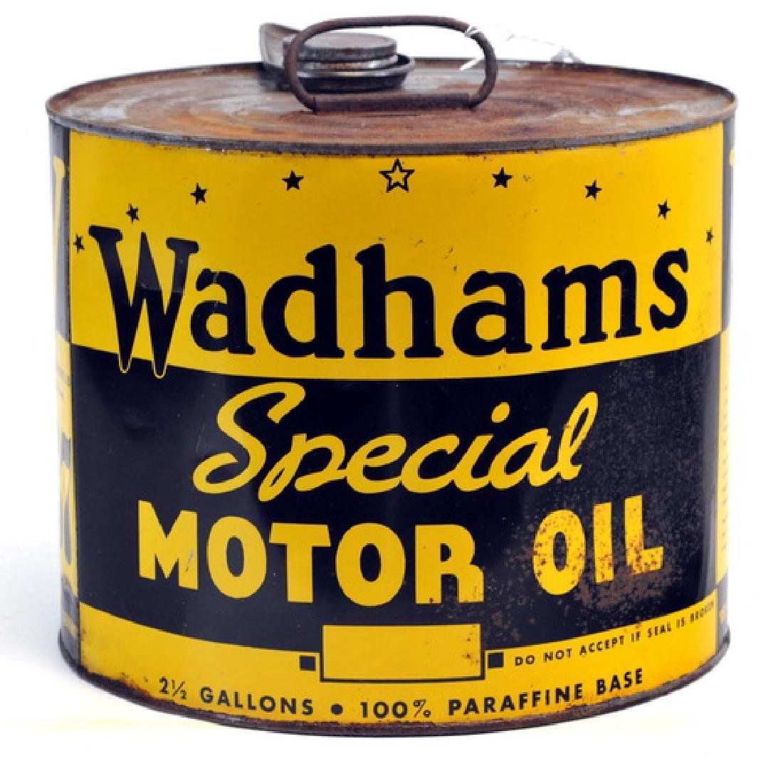 Rare 1937 Wadham's Motor Oil Can