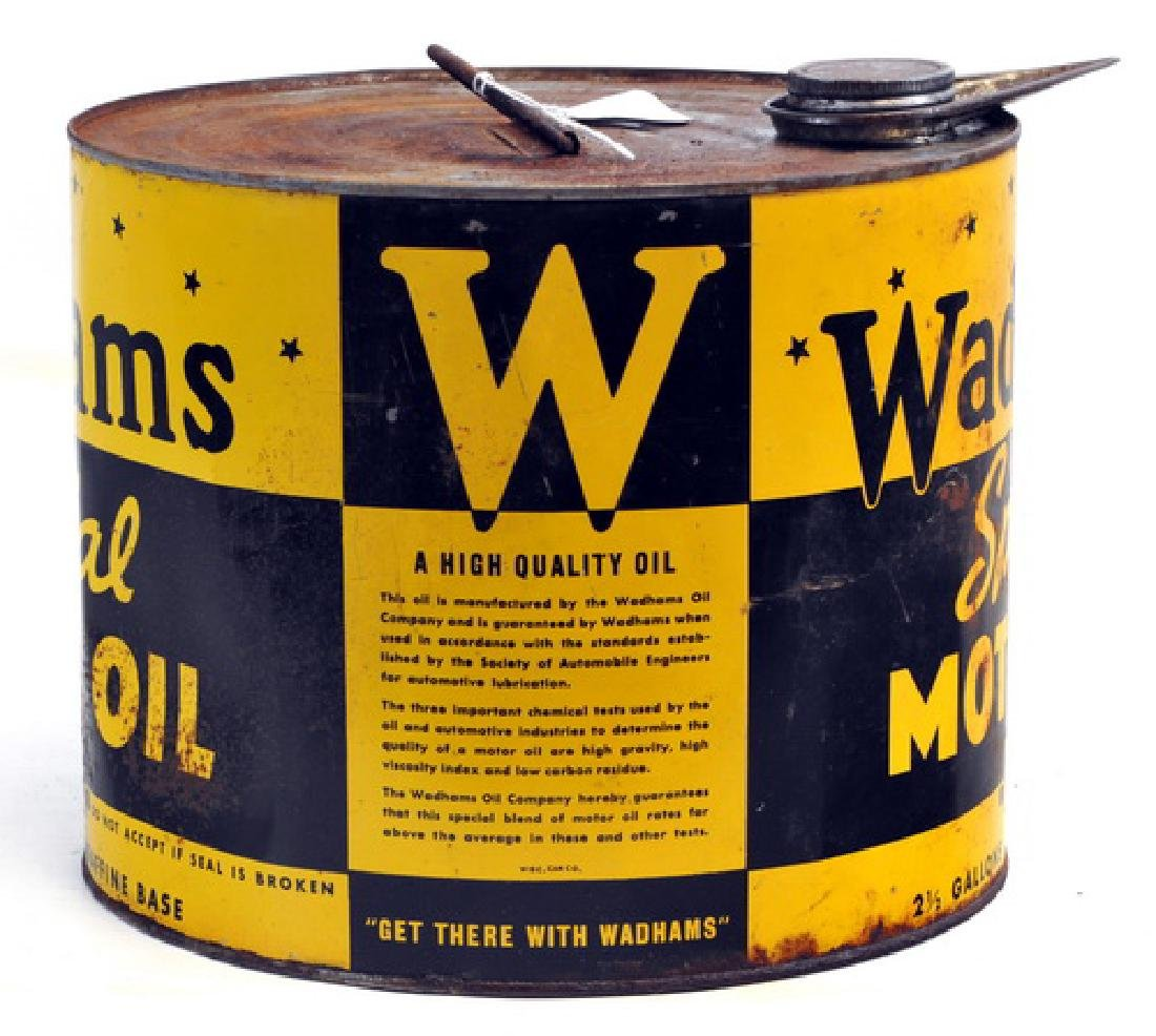 Rare 1937 Wadham's Motor Oil Can - 2