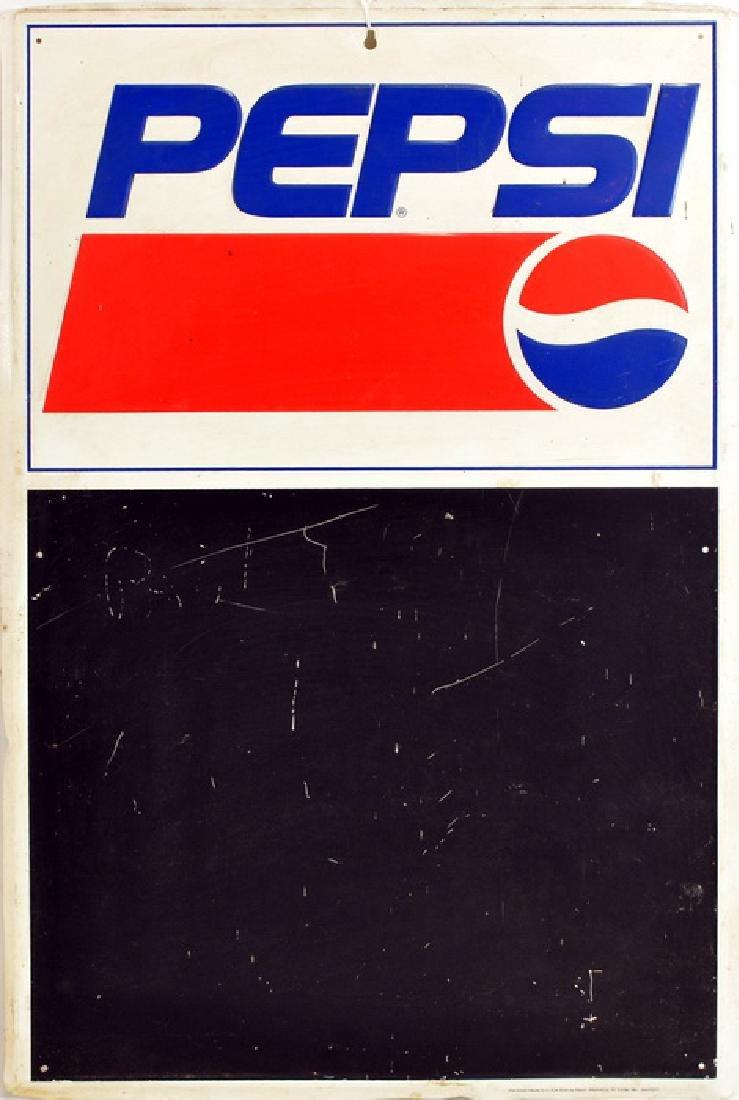 Original Pepsi Menu Sign