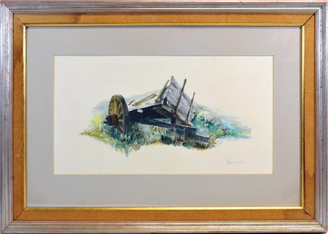 Watercolor On Paper By Charles Henry Gifford