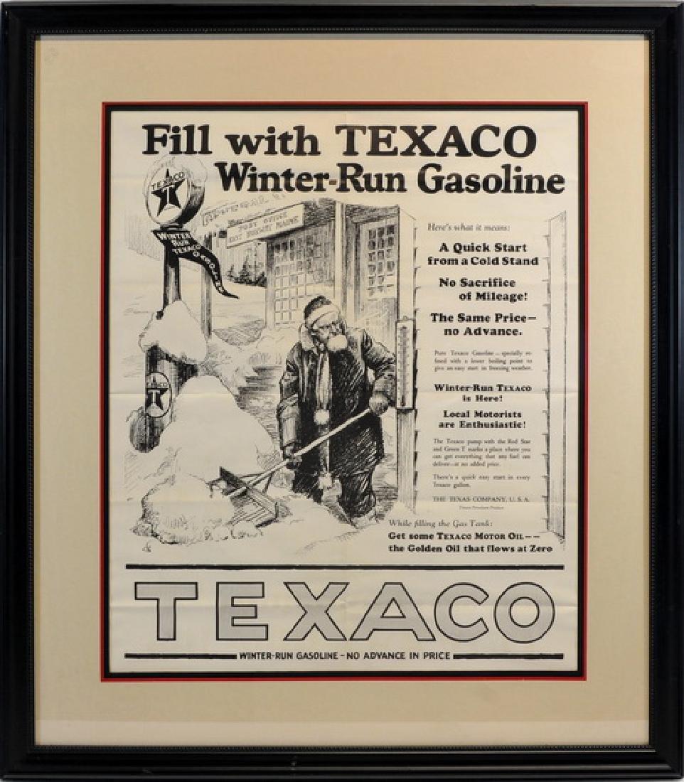 Rare Texaco Winter Gasoline Poster Maine
