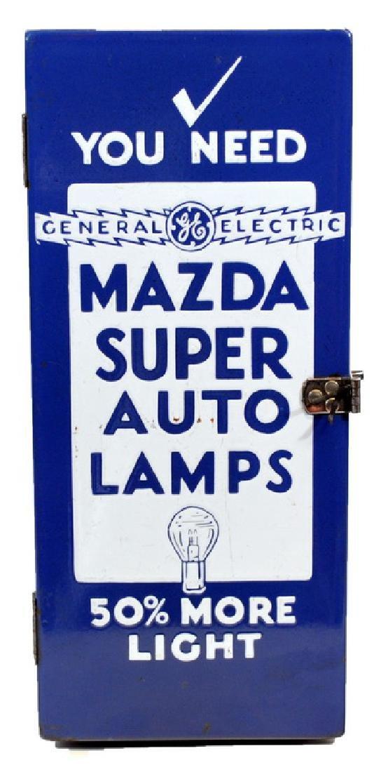 Original Porcelain Mazda Auto Lamps Store Display