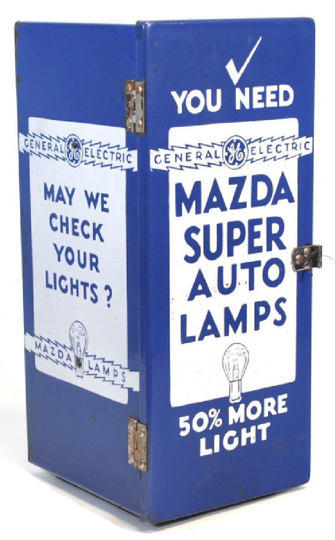 Original Porcelain Mazda Auto Lamps Store Display - 3