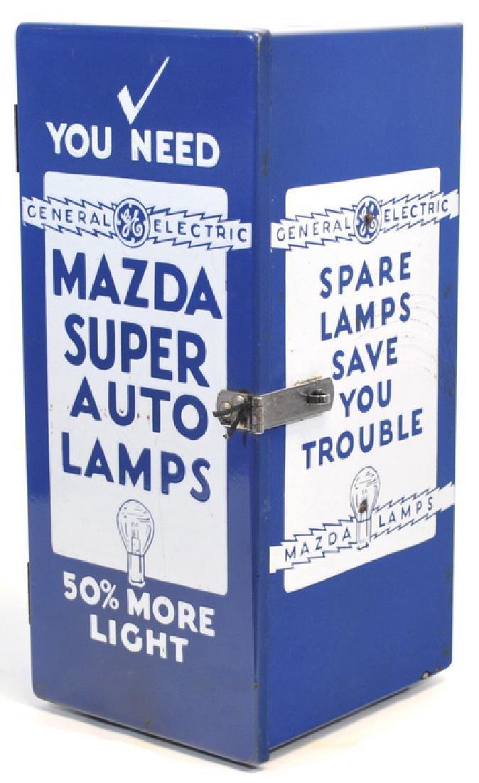 Original Porcelain Mazda Auto Lamps Store Display - 4