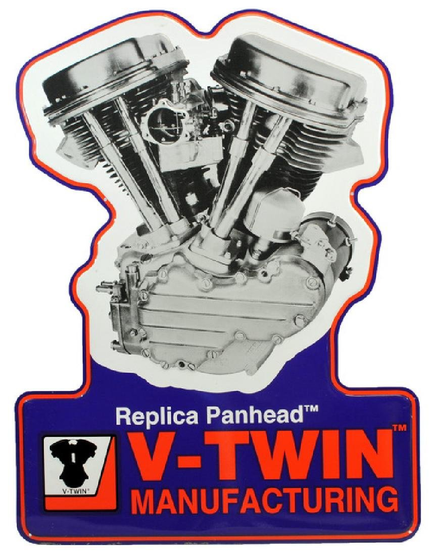 """V-twin Metal Signs (2) 22x17"""" Advertising Signs"""