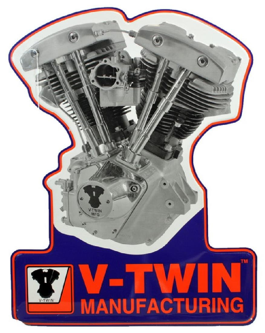 """V-twin Metal Signs (2) 22x17"""" Advertising Signs - 2"""