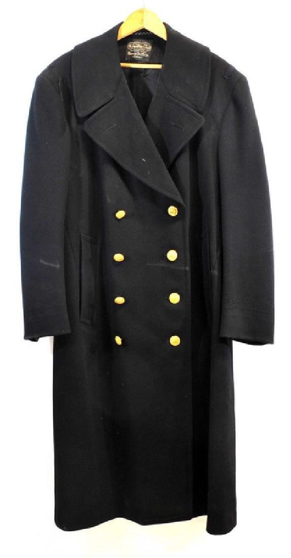 Original Wwii Us Navy High Rank Overcoat