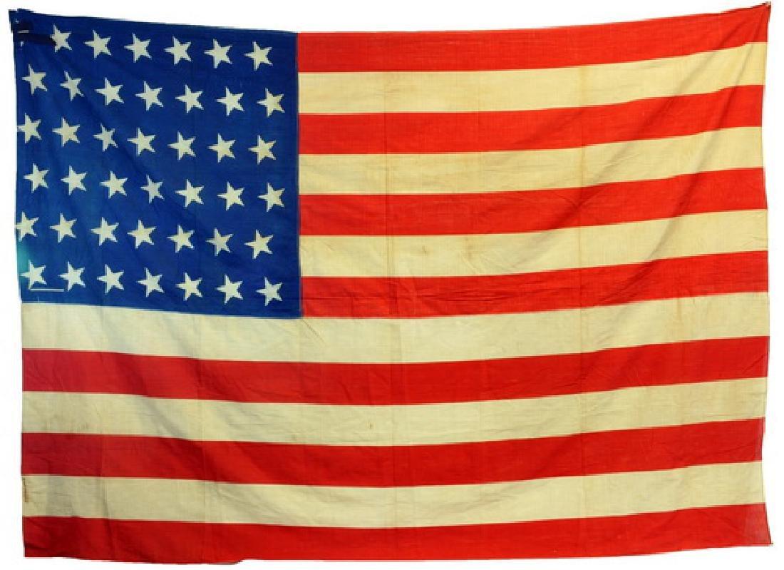 Original 1890 42 Star Us Flag