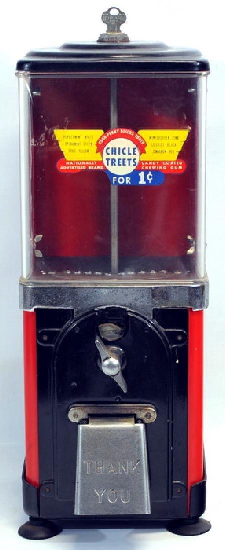 1950's Gumball Machine With Key