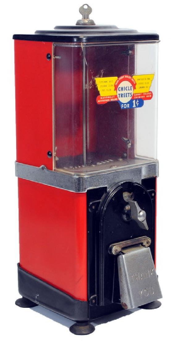 1950's Gumball Machine With Key - 2