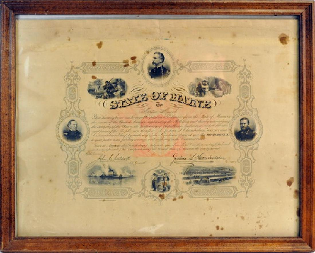 Framed Document, Testimonial Given To Martin