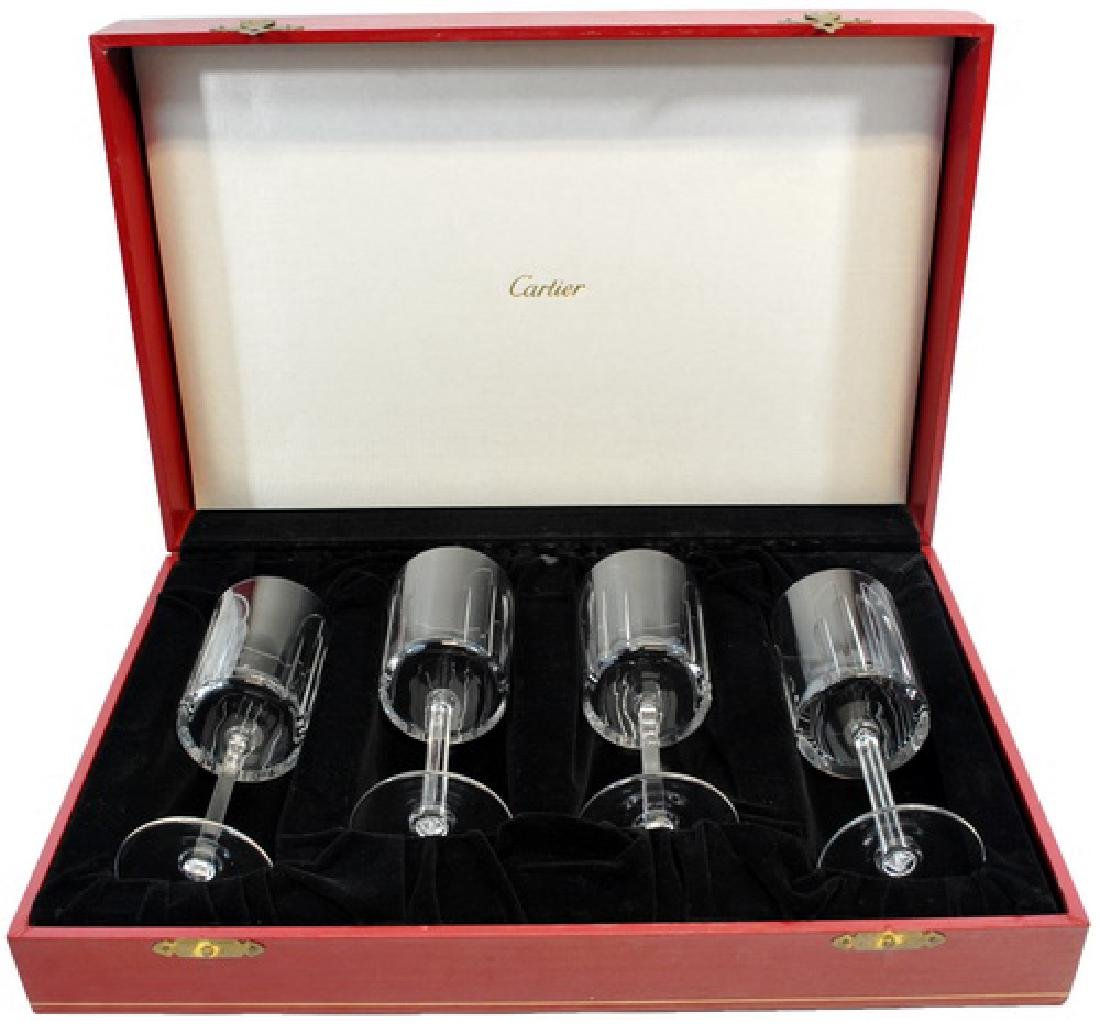Vintage Cartier Crystal Wine Glasses