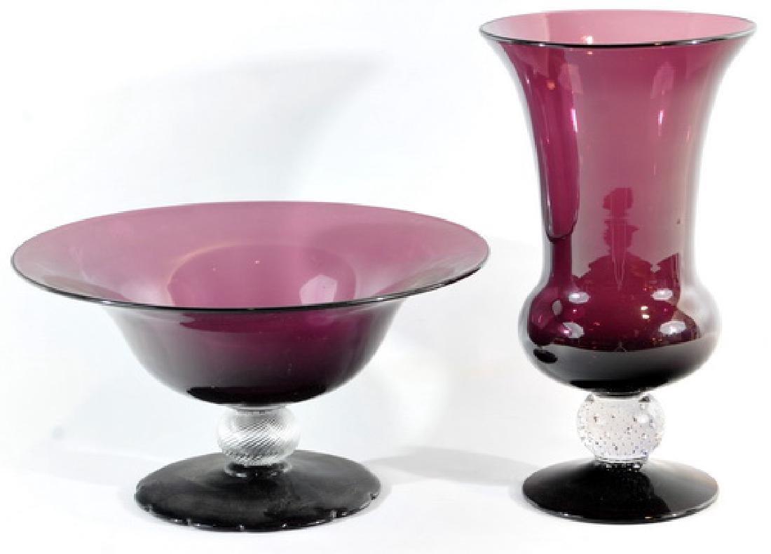 Four Antique Amethyst Vases/consoles - 3