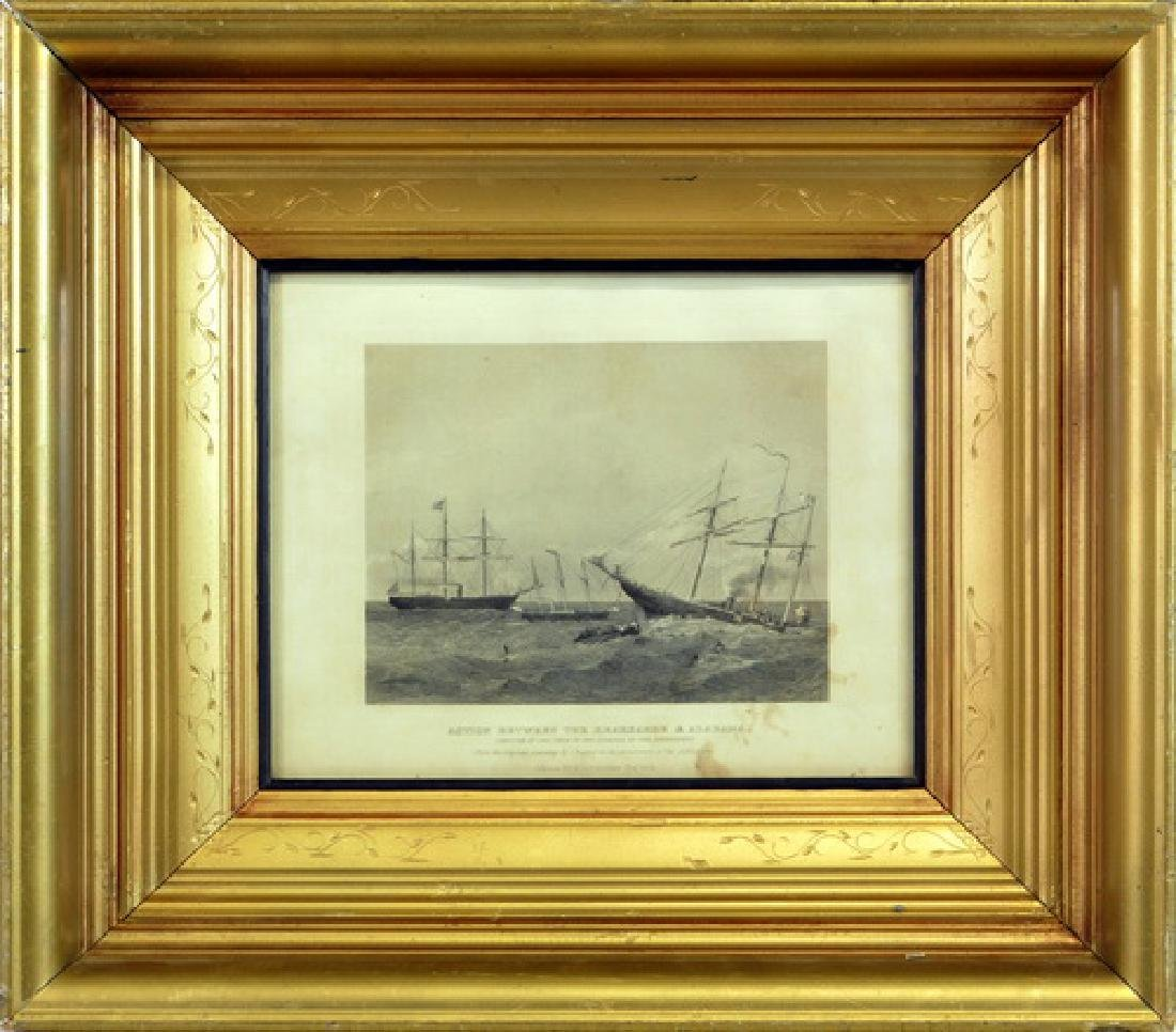 1864 Engraving In A Victorian Frame