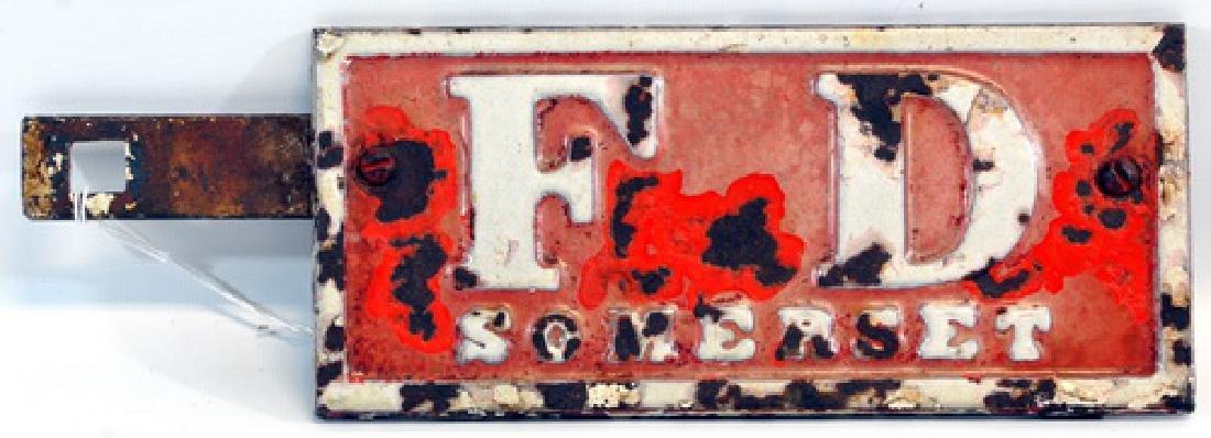 Early 1900's Somerset Mass Fire Plate Topper