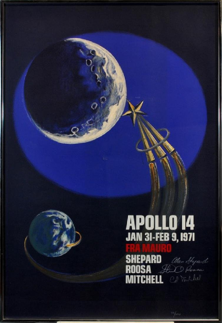 Apollo 14 Astronaut Signed Lithograph