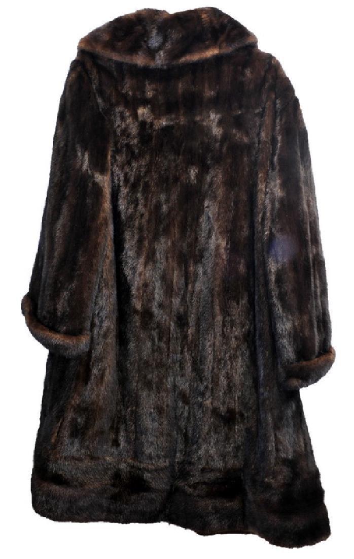 Full Length Vintage Mink Coat - 3