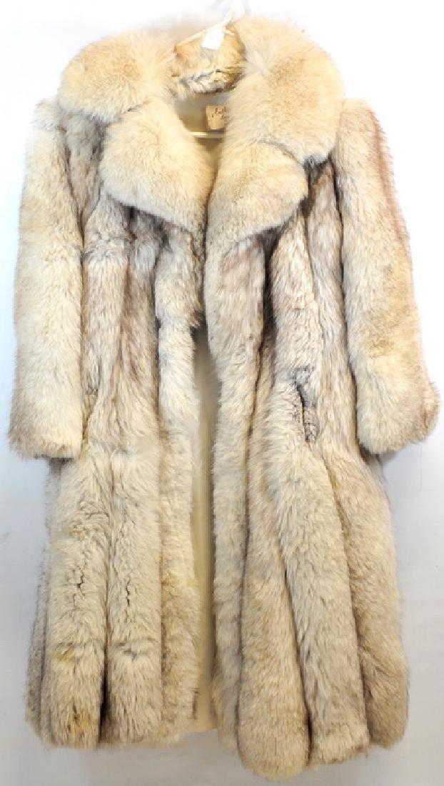 Norwegian Blue Fox Full Length Fur Coat