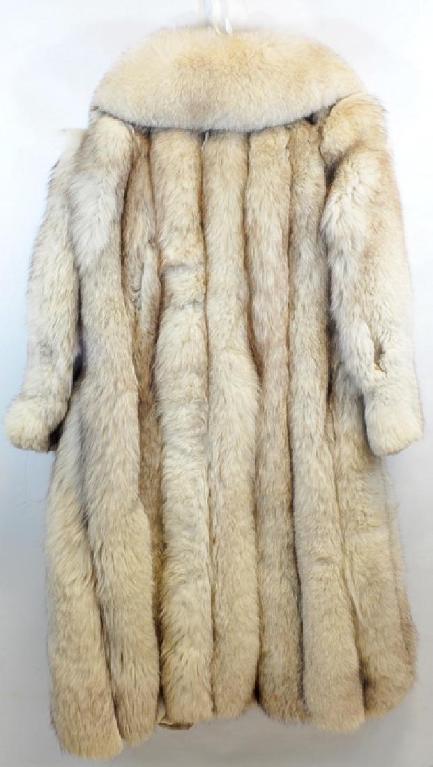 Norwegian Blue Fox Full Length Fur Coat - 3