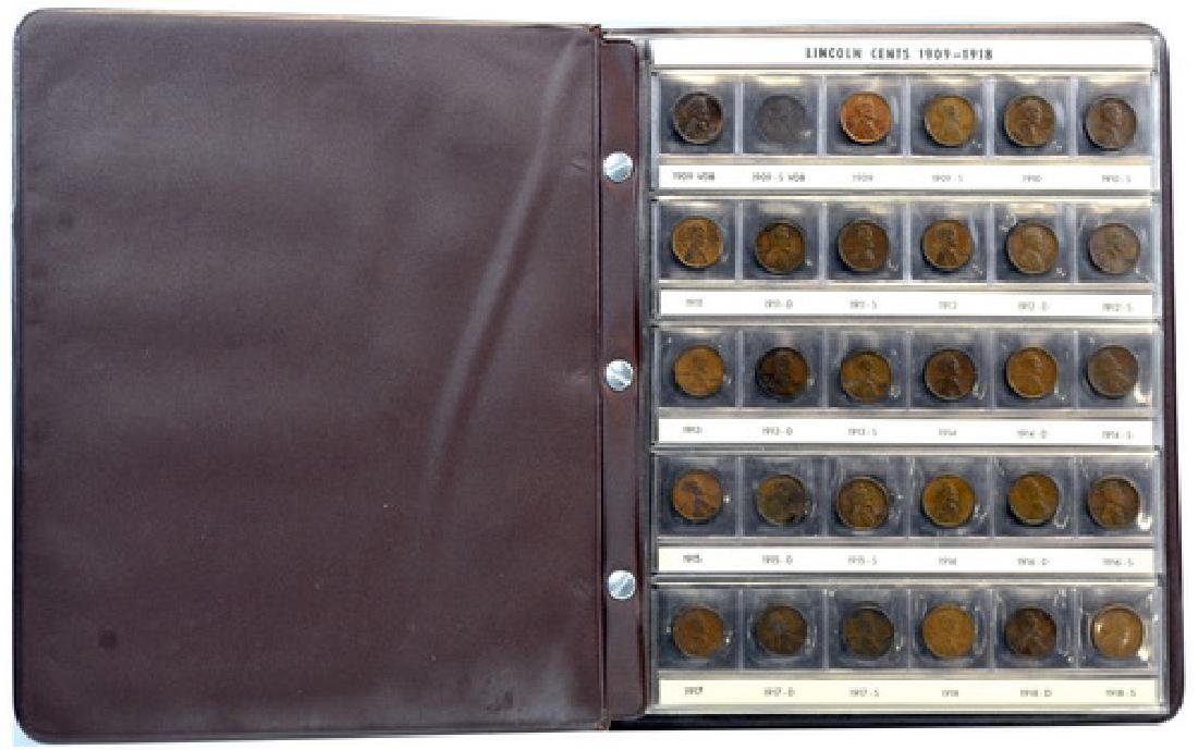 Two Lincoln Pennies Partial Books 1909- - 2