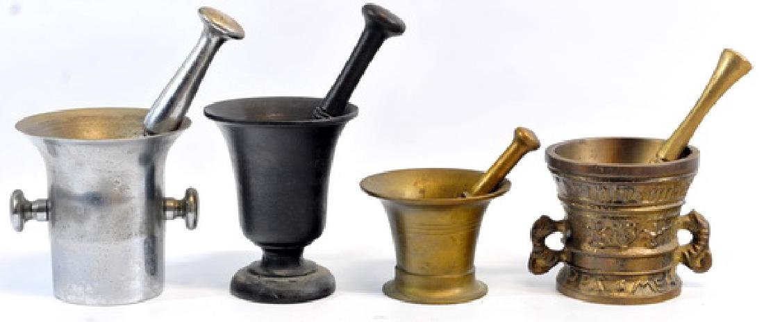 10 Antique Mortar & Pestles