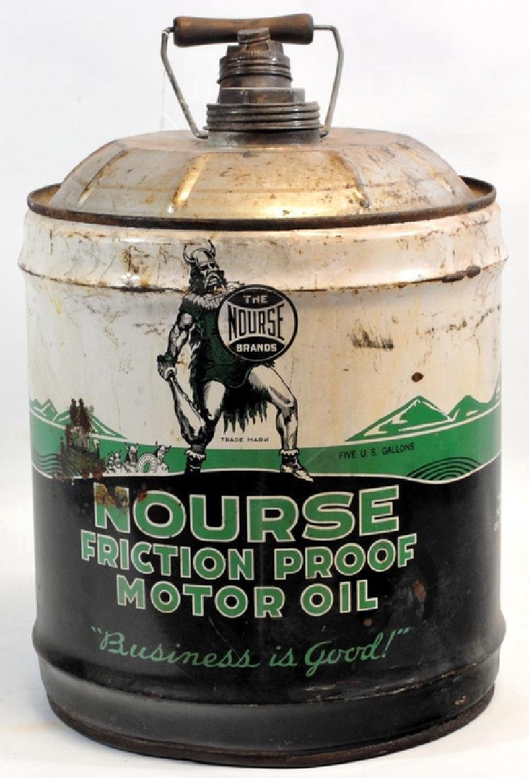 1940's Nourse Motor Oil 5 Gallon Can