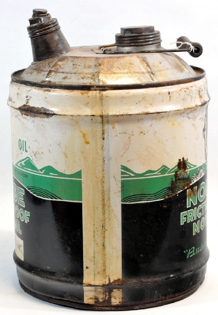 1940's Nourse Motor Oil 5 Gallon Can - 3