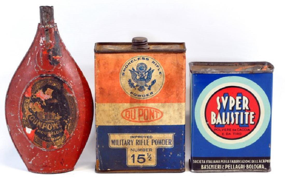 Three Antique Powder Tins Advertising