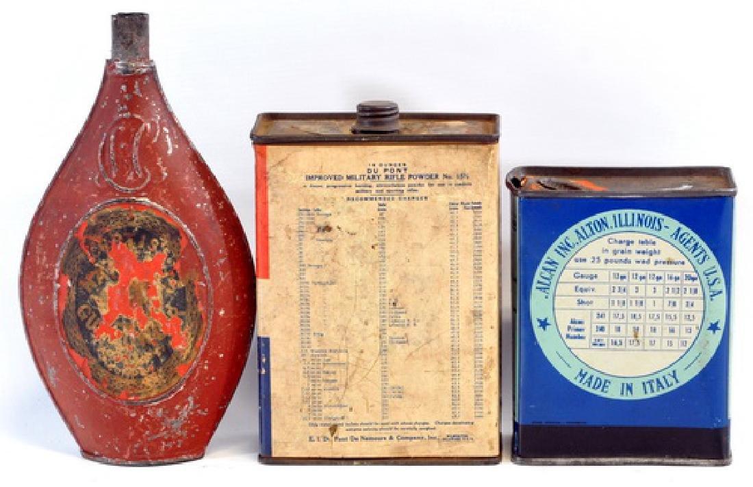 Three Antique Powder Tins Advertising - 2