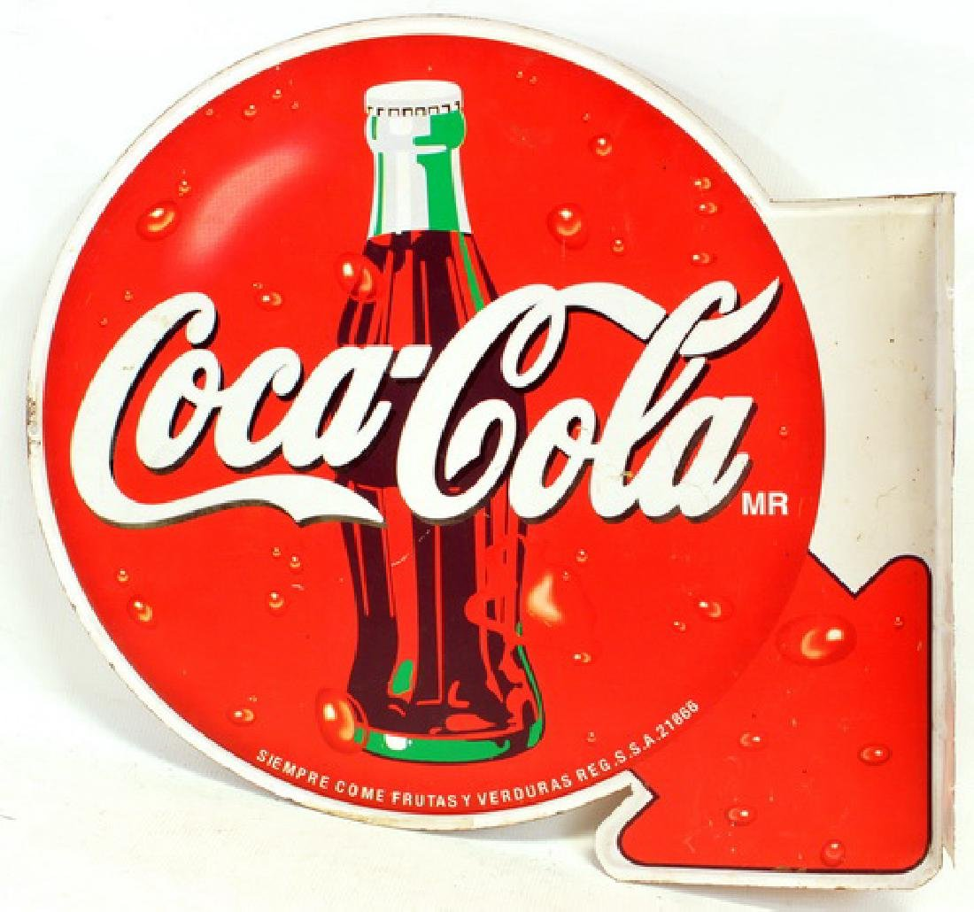 Vintage Coca Cola Soda Flange sign
