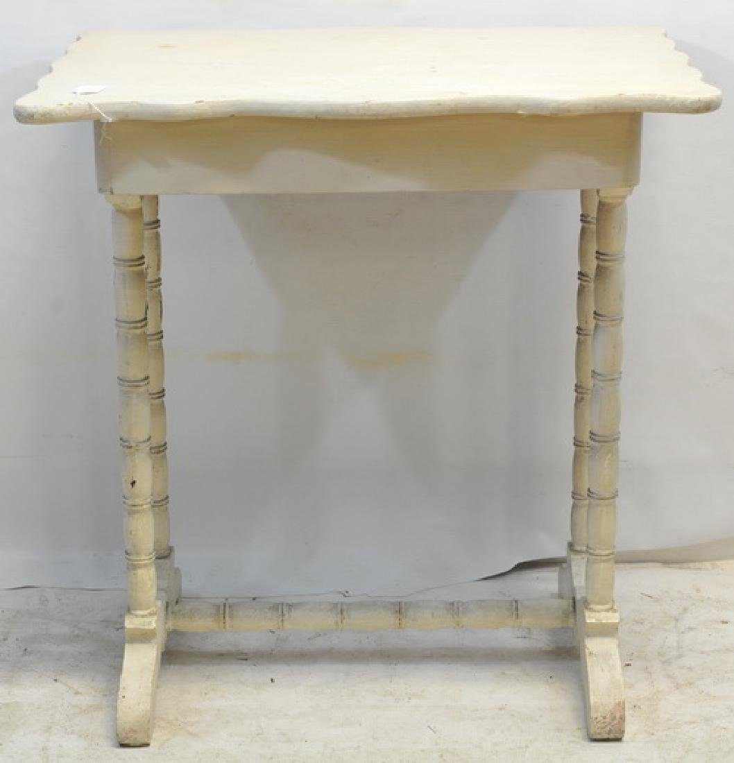 Antique Pine, Shape Top Table, 1 Draw