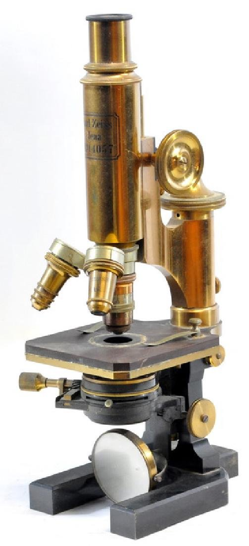 Antique Brass Microscope By Carl Zeiss Jena