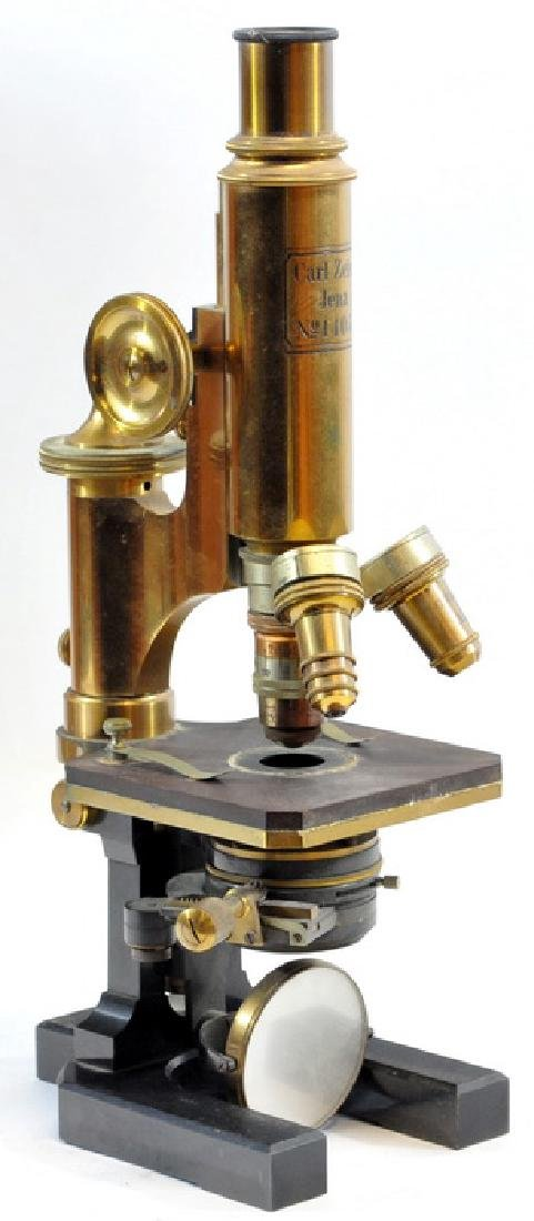 Antique Brass Microscope By Carl Zeiss Jena - 2