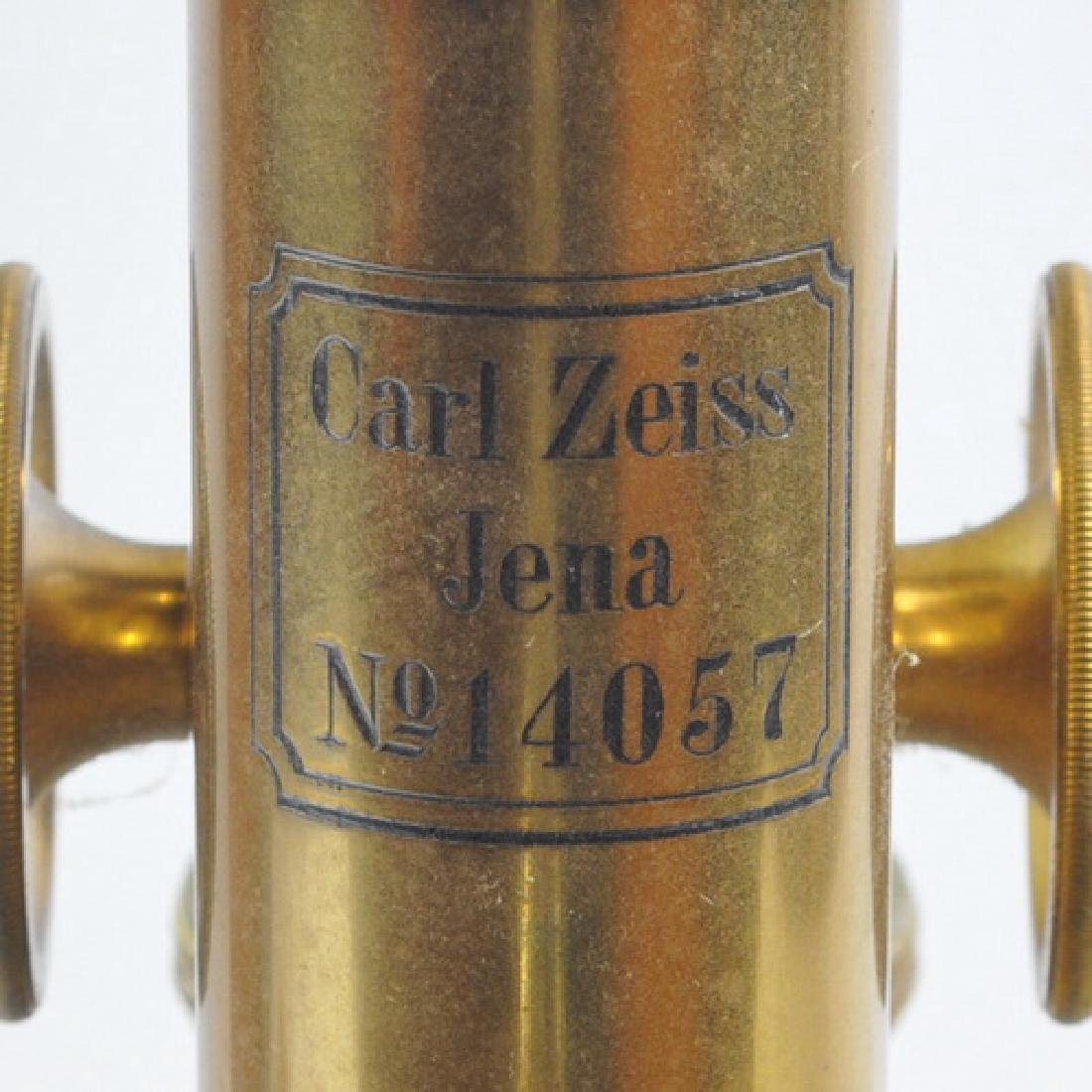 Antique Brass Microscope By Carl Zeiss Jena - 5