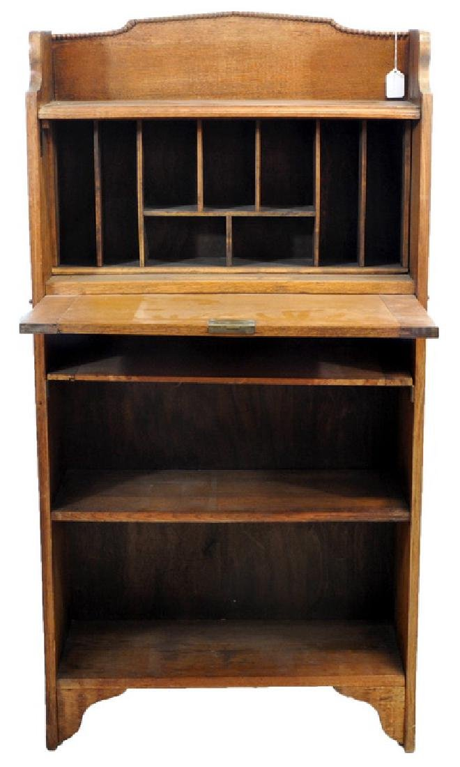 Antique Oak Larkin Junior Desk - 2