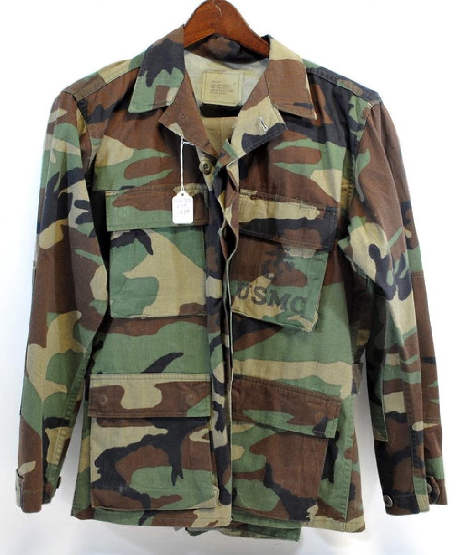 Marine Vietnam Camo Fatigues Shirt With 2