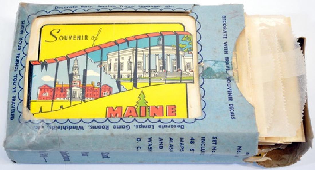 Vintage Maine Travel Decals In Original Box